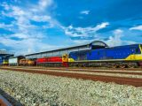 Fuel cell locomotive - train on tracks