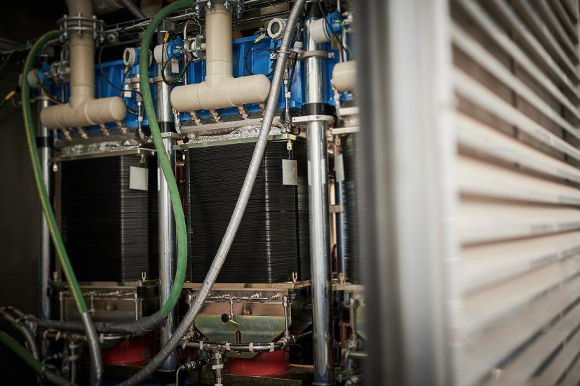 Green hydrogen electrolyzer - Electrolyser module at Shell Energy and Chemicals Park Rheinland