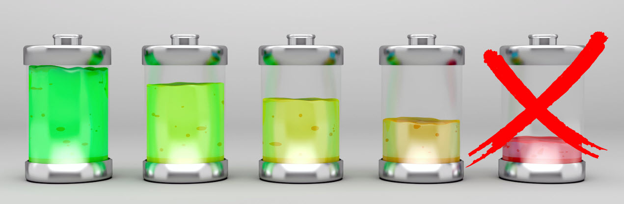 Avoid full li-ion battery discharges