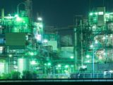 Hydrogen Economy - factory with green lights