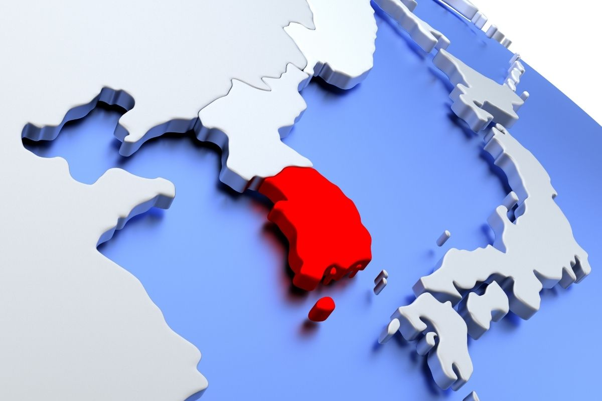 Hydrogen fuel cell plants - South Korea on map
