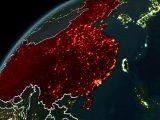 Coal Power Plants - China - world globe
