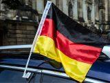 Hydrogen fuel cars - German flag on car