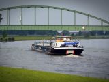 hydrogen production barge - A barge on water